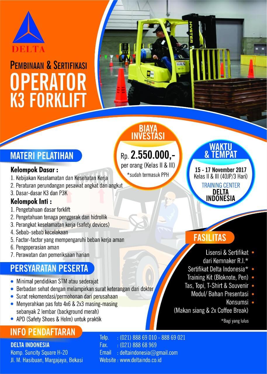 Sertifikasi Operator Forklift