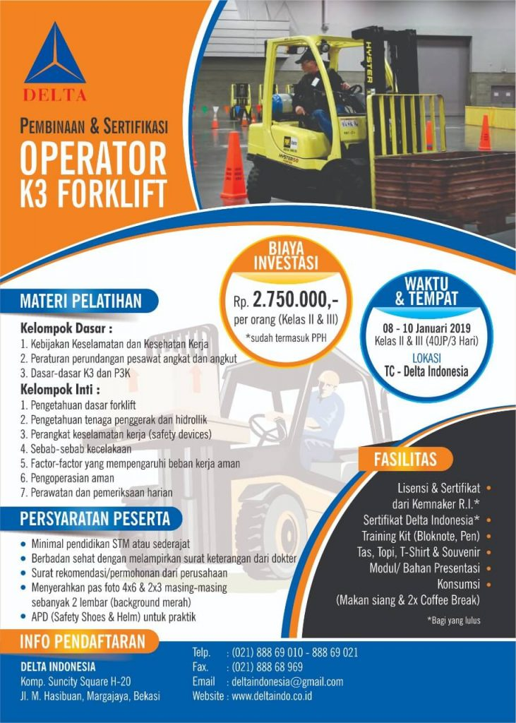 Pelatihan K3 Operator Forklift Jan 19