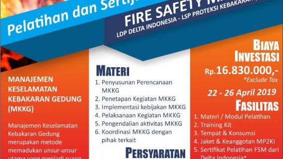 Jadwal Pelatihan & Sertifikasi K3 April 2019
