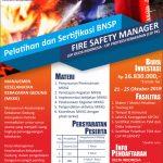 Pelatihan & Sertifikasi BNSP Fire Safety Manager Oktober 2019