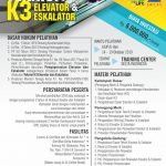 Pelatihan & Sertifikasi Teknisi K3 Elevator & Eskalator Oktober 2019