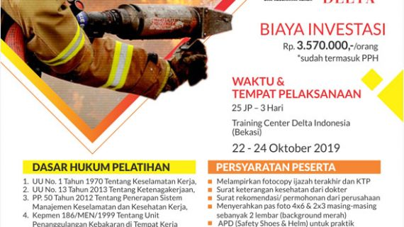 Pelatihan & Sertifikasi Petugas K3 Kebakaran Oktober 2019